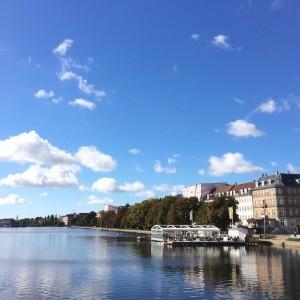 自宅の側の川です。空が綺麗だったので!